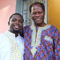 Dr. Bailey with father-in-law, Dr. Erick V.A. Gbodossou, at his wedding, a traditional three-day celebration in Senegal.