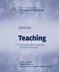 Image of program for the University of Arizona College of Medicine – Tucson annual teaching awards ceremony
