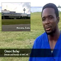 A news report on the African Medical Corps that Dr. Bailey helped found.
