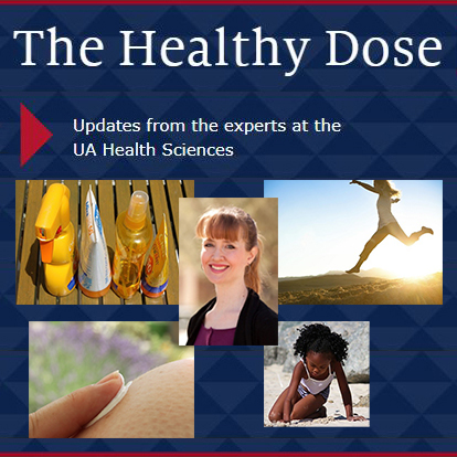 Image collage for story on Healthy Dose Blog post on summer skin safety