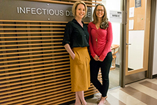 Shannon Smith, Infectious Diseases special projects director, and Alyssa Guido, AETC director