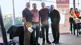 Doug Hockstad, Curtis Gunn, Base Horner, and UA President Robert C. Robbins. (Photo credit: Tech Launch Arizona)