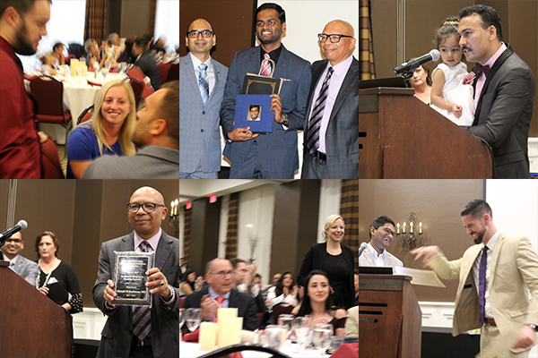 photo collage from UA South Campus resident graduation