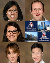 """Drs. Phan Saligrama, Kevin Breen, Darien Reed, Nicole Smith and Hyun Soo """"Kevin"""" Jang"""