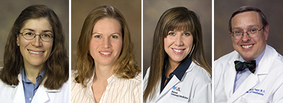 Drs. Julia Indik, Laura Meinke, Amy Sussman and Andrew Yeager