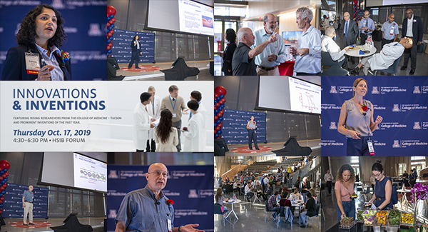 Collage of images from the 2019 Innovations & Inventions Research Fair at the UA College of Medicine – Tucson