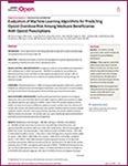 Image of first page of article in JAMA Network Open on machine learning to predict opioid overdose risks