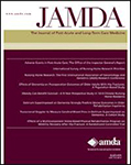 October 2017 cover of the Journal of the American Medical Directors Association (JAMDA)