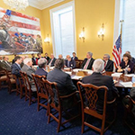 Image of Congressional Valley Fever Task Force roundtable from Mojave Desert News