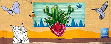 Cactus Tree by Lalo Cota | Mural Location: 3443 E. Speedway Blvd., Tucson, AZ 85716