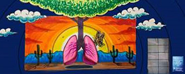 Lung Tree by Lalo Cota | Mural Location: 3540 N. Oracle Road., Tucson, AZ 85705