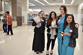 Cardiology crew – Christeana Castro, Dominica Padilla, Devan Lodge, RN, and Monique Crawford, RN