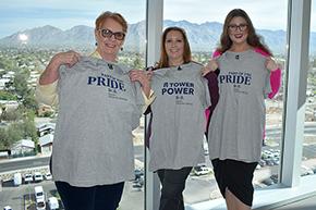 GI staff, Linda Gonzalez (left), Lisa Laughlin and Katherine Sepulveda (right)