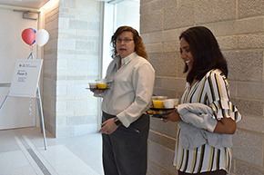 Cindy Larson and Sharon Lobo, senior accountants