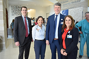 Dr. Gordon Carr (CMO), Catherine Townsend (CNO), Dr. Chad Whelan (CEO - Banner University Medicine) and Sarah Frost (CEO - Banner – UMC Tucson)