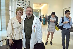 UA Arthritis Center's Tracy Shake and Dr. Randy Horwitz, medical director for Integrative Medicine