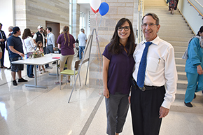 Cardiology's Dr. Paul Fenster (right) and Sandra Garcia, NP