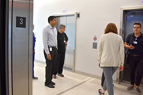 On the tour with Dr. Hemanth Gavini (left)