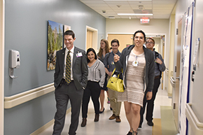 Dr. Kevin Moynahan leads a tour
