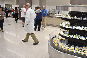 Pulmonary's Dr. James Knepler in the cafeteria
