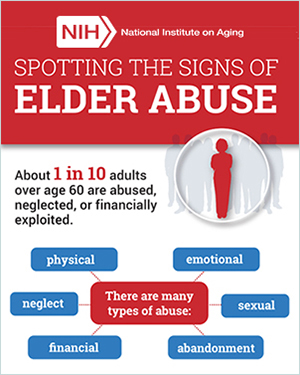 National Institute on Aging infographic about elder abuse