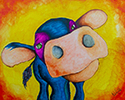 """Pondering Cow,"" by Norma Trujillo, spouse of UA's Michael Trujillo"