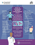 Infographic on Pulmonary Arterial Hypertension (PAH) [SOURCE: Bayer/CHEST]