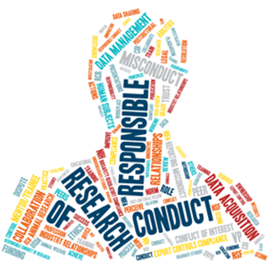 Responsible Conduct of Research word cloud