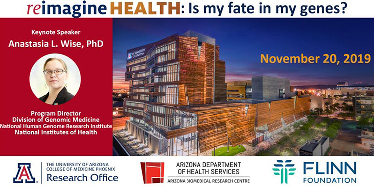 Banner image for Reimagine Health: Is My Fate in My Genes? research symposium