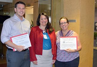 Jason Toone, UA Sarver Heart Center Director Nancy Sweitzer, MD, and Dawn Henderson