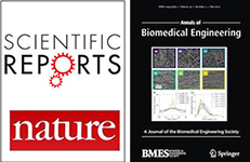 Covers of Scientific Reports and Annals of Biomedical Engineering
