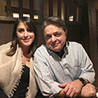 Stephanie Gatzionis and her father, Atanasio