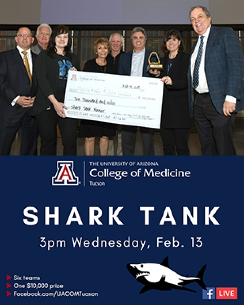 Teaser image for story on winners of Shark Tank competition during Research Day 2019 at UA College of Medicine – Tucson