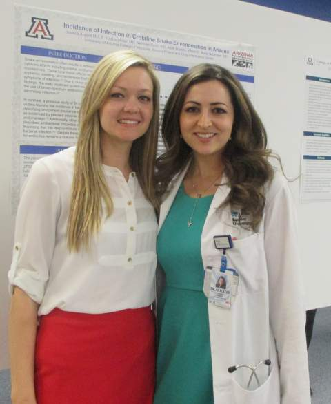 South Campus internal medicine residents Jessica August, MD, and Rhonda Alkatib, MD