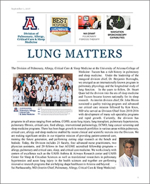 Lung Matters inaugural issue cover