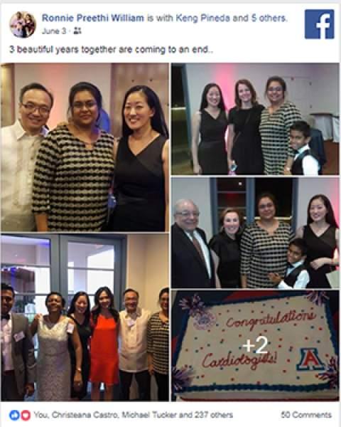 2018 University of Arizona cardiovascular disease fellows celebrate graduation at Lodge on the Desert