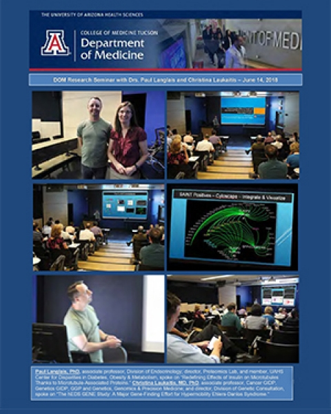 Cover image of photo gallery for DOM Research Seminar featuring Drs. Paul Langlais and Christina Laukaitis