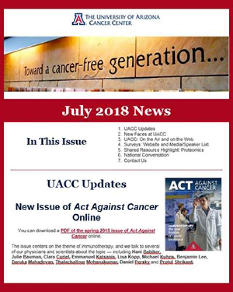 UACC Newsletter's July 2018 edition