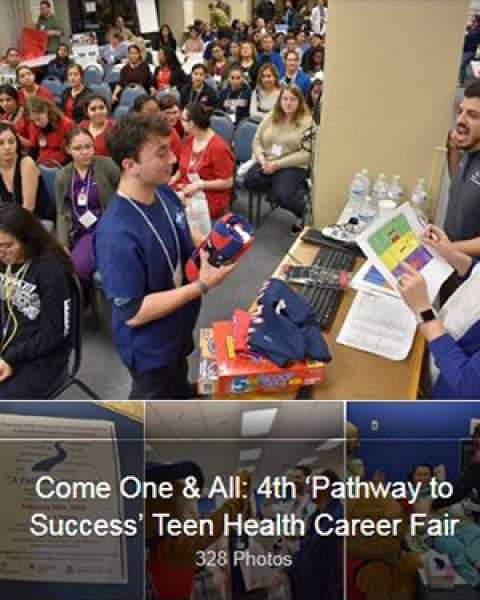 Teaser image of facebook post on photo album from 4th 'Pathway to Success' high school health career fair