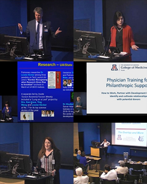 Teaser collage of images from DOM Spring 2019 General Faculty Meeting