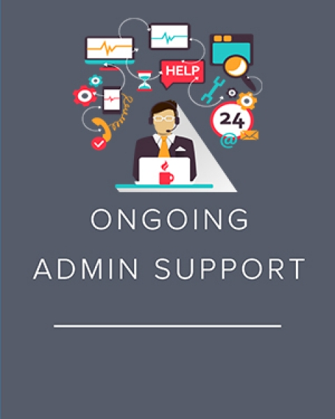 Graphic about ongoing administrative support