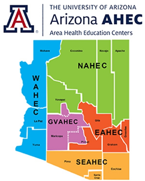 Teaser image for map of Arizona Area Health Education Centers | University of Arizona