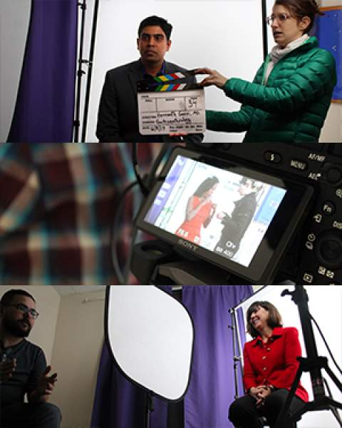 Drs. Hemanth Gavini, Khadijah Breathett and Monica Kraft film video profiles for Banner Health
