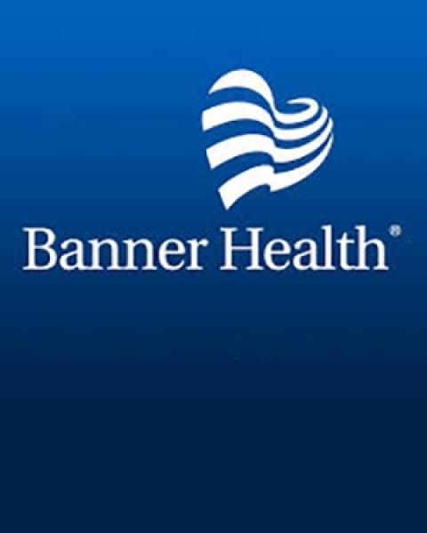 Banner Health logo on blue
