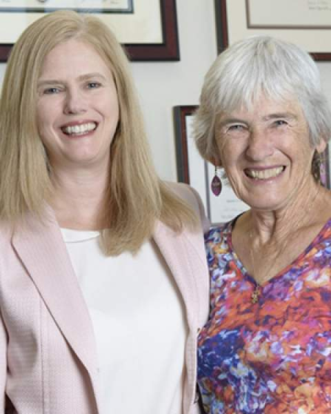 Dr. Julie Bauman and her mother, Dr. Kay Bauman, who practiced medicine in Tucson