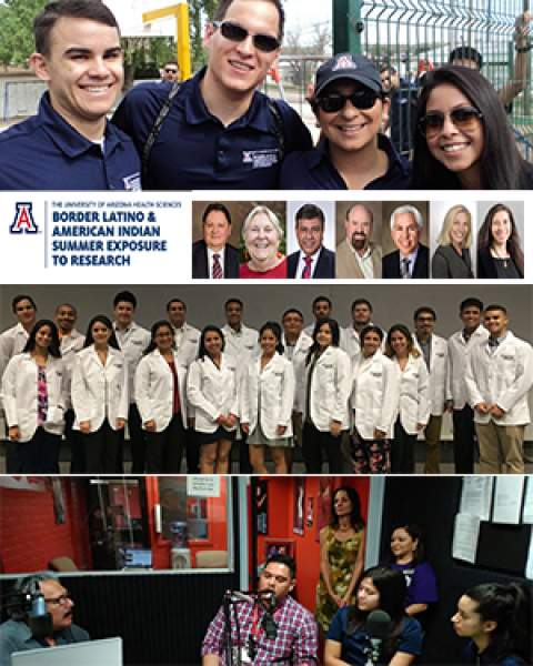 collage of images from the University of Arizona BLAISER Program
