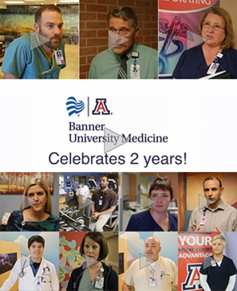 Image link to video on Banner - University Medicine's 2nd Anniversary