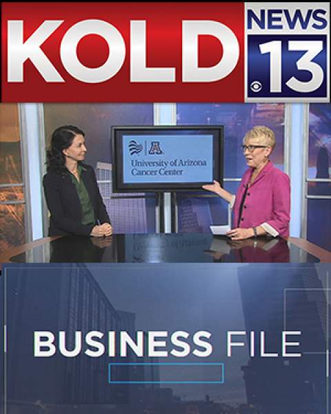 Teaser image of KOLD News-13 Business File video with Dr. Clara Curiel-Lewandrowski and Joan Lee