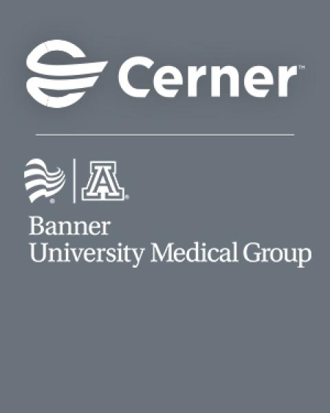 cerner - banner university medical group logos on gray
