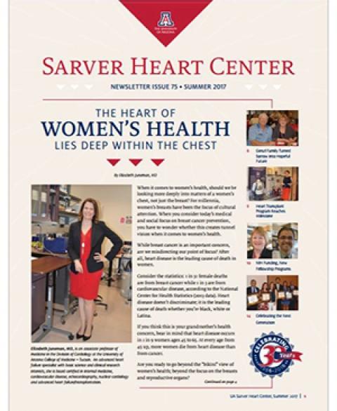 Cover of summer issue of UA Sarver Heart Center Newsletter